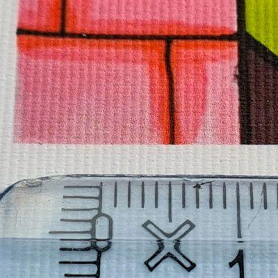 Bannertekstil closeup med lineal